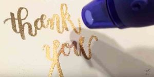 Watch How She Does This Super Quick And Easy Embossed Brush Calligraphy!