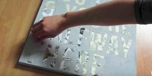 Watch How She Makes This Super Cool Canvas Letter Art Piece!