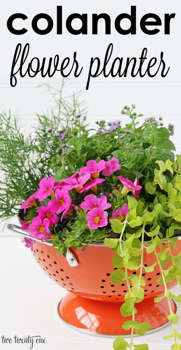 Best Mothers Day Ideas - Colander Flower Planter - Easy and Cute DIY Projects to Make for Mom - Cool Gifts and Homemade Cards, Gift in A Jar Ideas - Cheap Things You Can Make for Your Mother http://diyjoy.com/diy-mothers-day-ideas