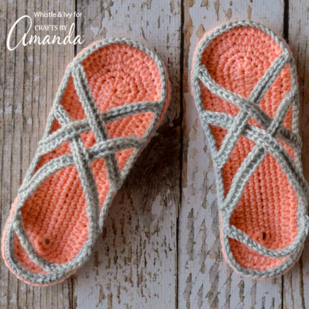 Best Mothers Day Ideas - Crochet Sandals - Easy and Cute DIY Projects to Make for Mom - Cool Gifts and Homemade Cards, Gift in A Jar Ideas - Cheap Things You Can Make for Your Mother http://diyjoy.com/diy-mothers-day-ideas