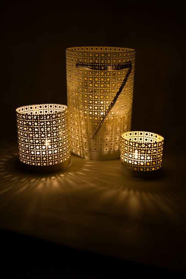 DIY Candle Holders - DIY Aluminum Candle Holder - Easy Ideas for Home Decor With Candles, Tall Candlesticks and Votives - Fun Wooden, Rustic, Glass, Mason Jar, Boho and Projects With Items From Dollar Stores - Christmas, Holiday and Wedding Centerpieces - Cool Crafts and Homemade Cheap Gifts http://diyjoy.com/diy-candle-holders