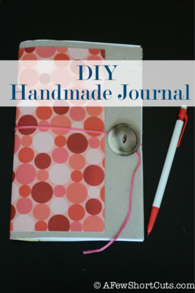 DIY Journals - DIY Handmade Journal - Ideas For Making A Handmade Journal - Cover Art Tutorial, Binding Tips, Easy Craft Ideas for Kids and For Teens - Step By Step Instructions for Making From Scratch, From An Old Book - Leather, Faux Marble, Paper, Monogram, Cute Do It Yourself Gift Idea http://diyjoy.com/diy-journals