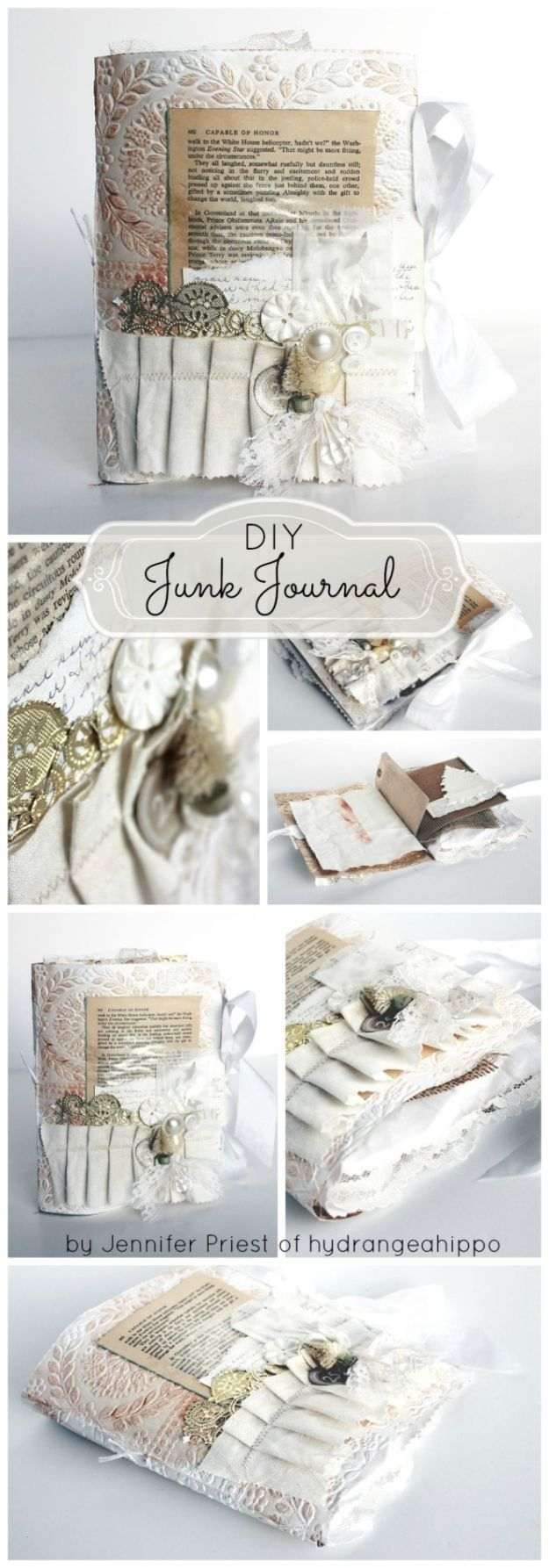 DIY Journals - DIY Junk Journal - Ideas For Making A Handmade Journal - Cover Art Tutorial, Binding Tips, Easy Craft Ideas for Kids and For Teens - Step By Step Instructions for Making From Scratch, From An Old Book - Leather, Faux Marble, Paper, Monogram, Cute Do It Yourself Gift Idea