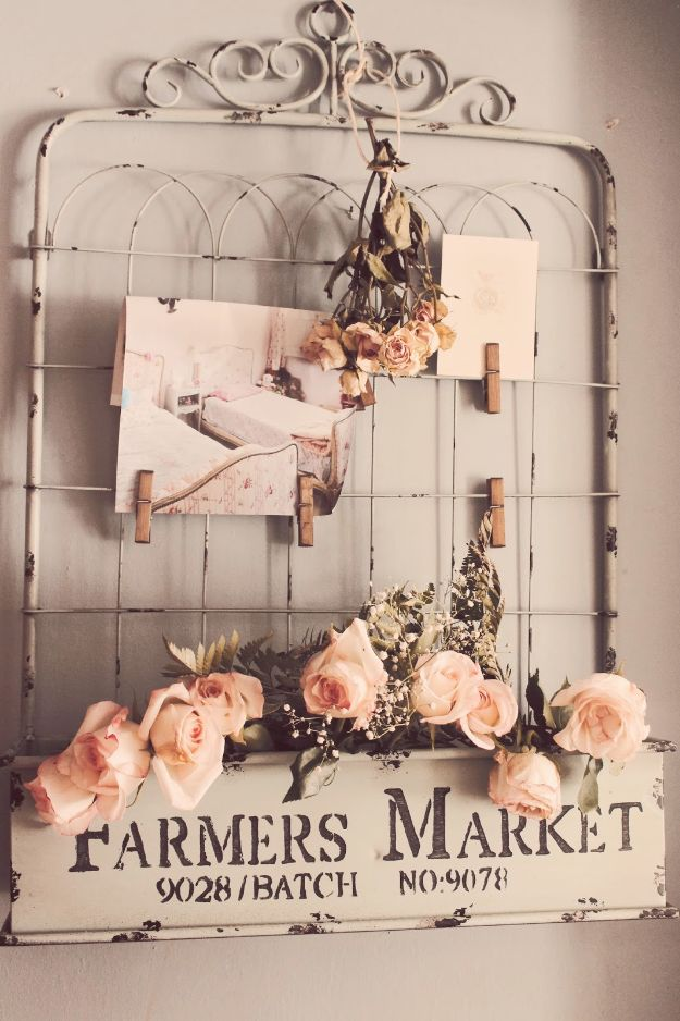 DIY Shabby Chic Decor Ideas - DIY Shabby Chic Gate & Sign Wall Decor - French Farmhouse and Vintage White Linens - Bedroom, Living Room, Bathroom Ideas, Distressed Furniture and Boho Crafts - Cheap Dollar Store Projects and Upcycle Repurposed Home Decor #diyideas #shabbychic #diyhomedecor