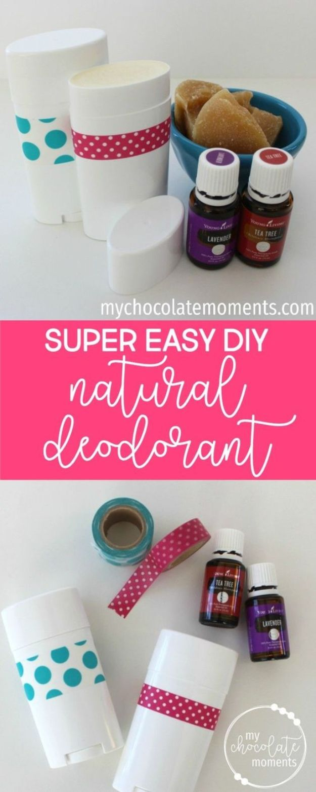 DIY Essential Oil Recipes and Ideas - DIY Super Easy Natural Deodorant - Cool Recipes, Crafts and Home Decor to Make With Essential Oil - Diffuser Projects, Roll On Prodicts for Skin - Recipe Tutorials for Cleaning, Colds, For Sleep, For Hair, For Paint, For Weight Loss #crafts #diy #essentialoils