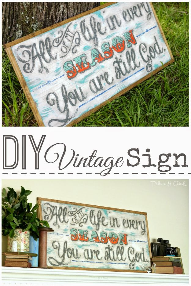 DIY Vintage Signs - DIY Vintage Quote Sign - Rustic, Vintage Sign Projects to Make At Home - Creative Home Decor on a Budget and Cheap Crafts for Living Room, Bedroom and Kitchen - Paint Letters, Transfer to Wood, Aged Finishes and Fun Word Stencils and Easy Ideas for Farmhouse Wall Art http://diyjoy.com/diy-vintage-signs
