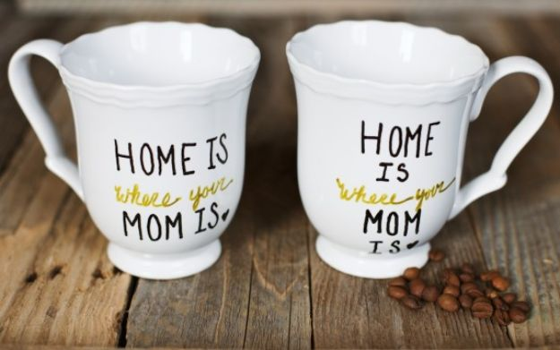 Best Mothers Day Ideas - DIY Mother's Day Mug - Easy and Cute DIY Projects to Make for Mom - Cool Gifts and Homemade Cards, Gift in A Jar Ideas - Cheap Things You Can Make for Your Mother http://diyjoy.com/diy-mothers-day-ideas
