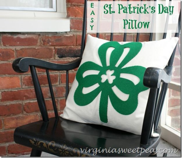 St Patricks Day Decor Ideas - Dollar Store Decor to St. Patrick's Day Pillow - DIY St. Patrick's Day Party Decorations and Home Decor Crafts - Projects for Walls, Hanging Banners, Wreaths, Tabletop Centerpieces and Party Favors - Green Shamrocks, Leprechauns and Cute and Easy Do It Yourself Decor For Parties - Cheap Dollar Store Ideas for Those On A Budget http://diyjoy.com/diy-st-patricks-day-decor