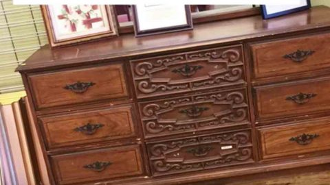 Watch The Incredible Way She Transforms An Old Dresser Into