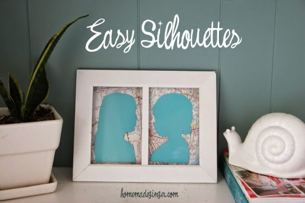 Best Mothers Day Ideas - Easy Silhouettes - Easy and Cute DIY Projects to Make for Mom - Cool Gifts and Homemade Cards, Gift in A Jar Ideas - Cheap Things You Can Make for Your Mother http://diyjoy.com/diy-mothers-day-ideas