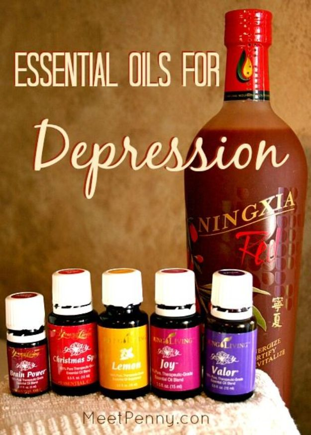 DIY Essential Oil Recipes and Ideas - Essential Oils for Depression - Cool Recipes, Crafts and Home Decor to Make With Essential Oil - Diffuser Projects, Roll On Prodicts for Skin - Recipe Tutorials for Cleaning, Colds, For Sleep, For Hair, For Paint, For Weight Loss #crafts #diy #essentialoils