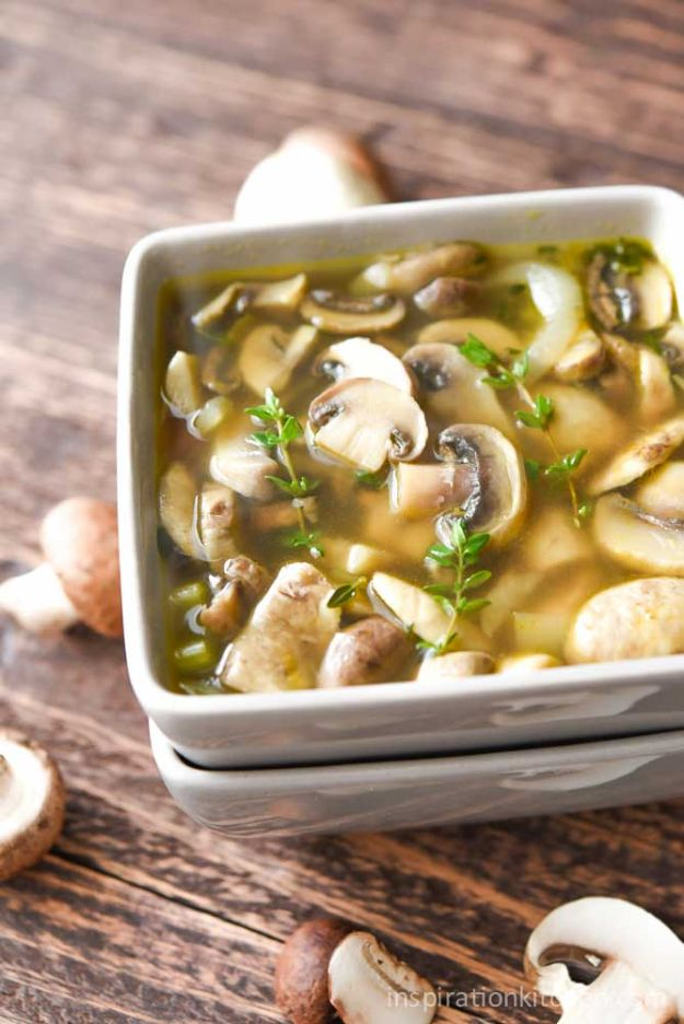 Best Lowfat Recipes - Healthy Mushroom Soup - Easy Low fat and Healthy Recipe Ideas For Eating Well and Dieting, Weight Loss - Quick Breakfasts, Lunch, Dinner, Snack and Desserts - Foods with Chicken, Vegetables, Salad, Low Carb, Beef, Egg, Gluten Free http://diyjoy.com/best-lowfat-recipes