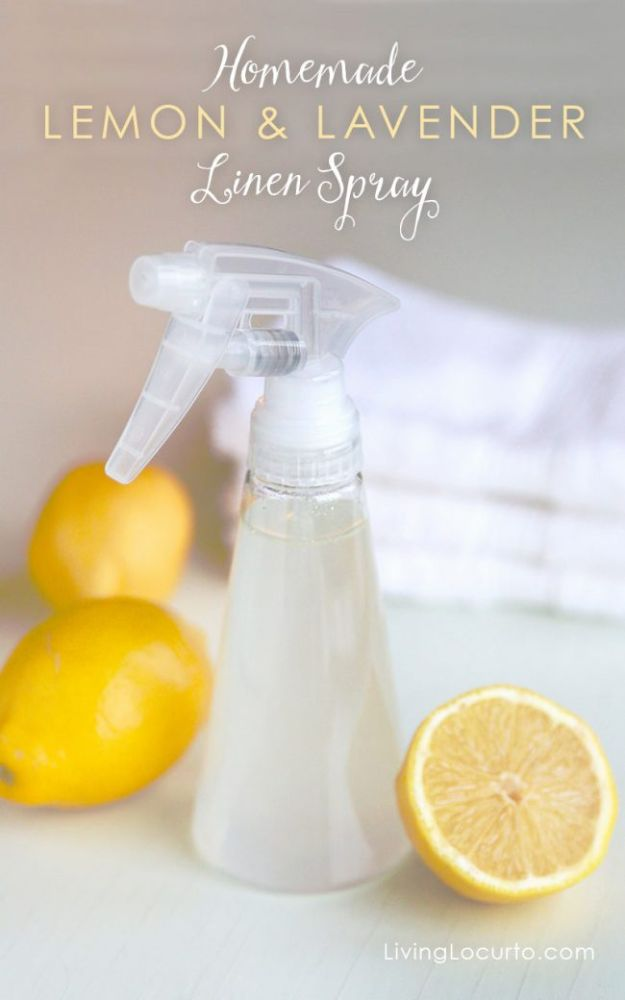 DIY Essential Oil Recipes and Ideas - Homemade Lemon & Lavender Linen Spray - Cool Recipes, Crafts and Home Decor to Make With Essential Oil - Diffuser Projects, Roll On Prodicts for Skin - Recipe Tutorials for Cleaning, Colds, For Sleep, For Hair, For Paint, For Weight Loss #crafts #diy #essentialoils