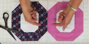 She Makes A Fun And Easy Quilt That We Don't Often See, Using One Jelly Roll!