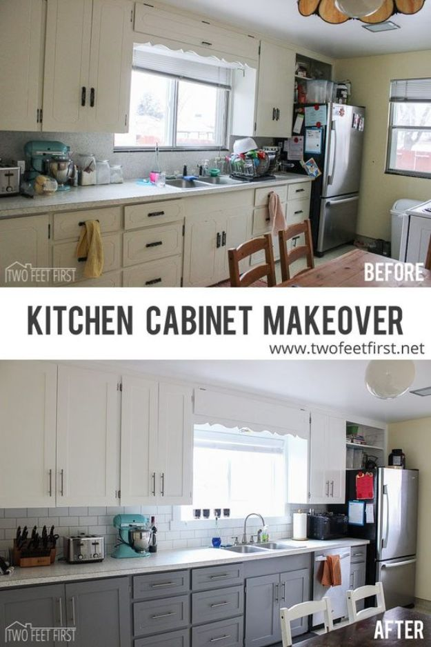 DIY Kitchen Cabinet Ideas - Kitchen Cabinet Makeover - Makeover and Before and After - How To Build, Plan and Renovate Your Kitchen Cabinets - Painted, Cheap Refact, Free Plans, Rustic Decor, Farmhouse and Vintage Looks, Modern Design and Inexpensive Budget Friendly Projects