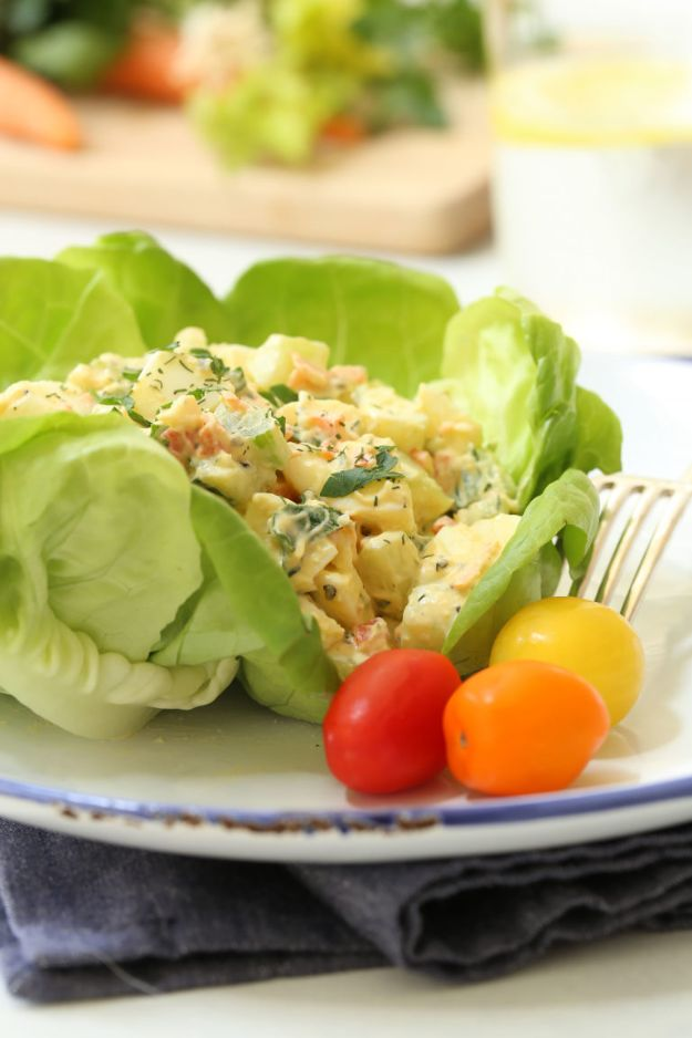 Best Lowfat Recipes - Loaded Low-Fat Egg Salad - Easy Low fat and Healthy Recipe Ideas For Eating Well and Dieting, Weight Loss - Quick Breakfasts, Lunch, Dinner, Snack and Desserts - Foods with Chicken, Vegetables, Salad, Low Carb, Beef, Egg, Gluten Free http://diyjoy.com/best-lowfat-recipes