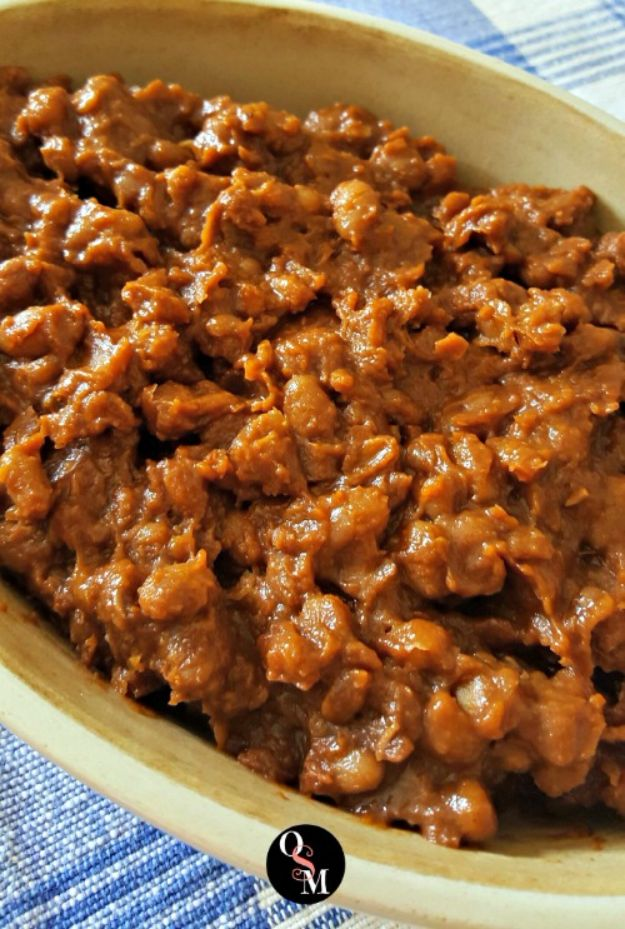 Best Lowfat Recipes - Low Fat BBQ Baked Beans - Easy Low fat and Healthy Recipe Ideas For Eating Well and Dieting, Weight Loss - Quick Breakfasts, Lunch, Dinner, Snack and Desserts - Foods with Chicken, Vegetables, Salad, Low Carb, Beef, Egg, Gluten Free http://diyjoy.com/best-lowfat-recipes