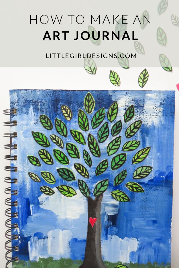 DIY Journals - Make an Art Journal - Ideas For Making A Handmade Journal - Cover Art Tutorial, Binding Tips, Easy Craft Ideas for Kids and For Teens - Step By Step Instructions for Making From Scratch, From An Old Book - Leather, Faux Marble, Paper, Monogram, Cute Do It Yourself Gift Idea