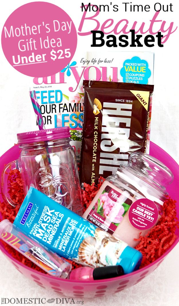 Best Mothers Day Ideas - Mother's Day Gift Basket - Easy and Cute DIY Projects to Make for Mom - Cool Gifts and Homemade Cards, Gift in A Jar Ideas - Cheap Things You Can Make for Your Mother http://diyjoy.com/diy-mothers-day-ideas