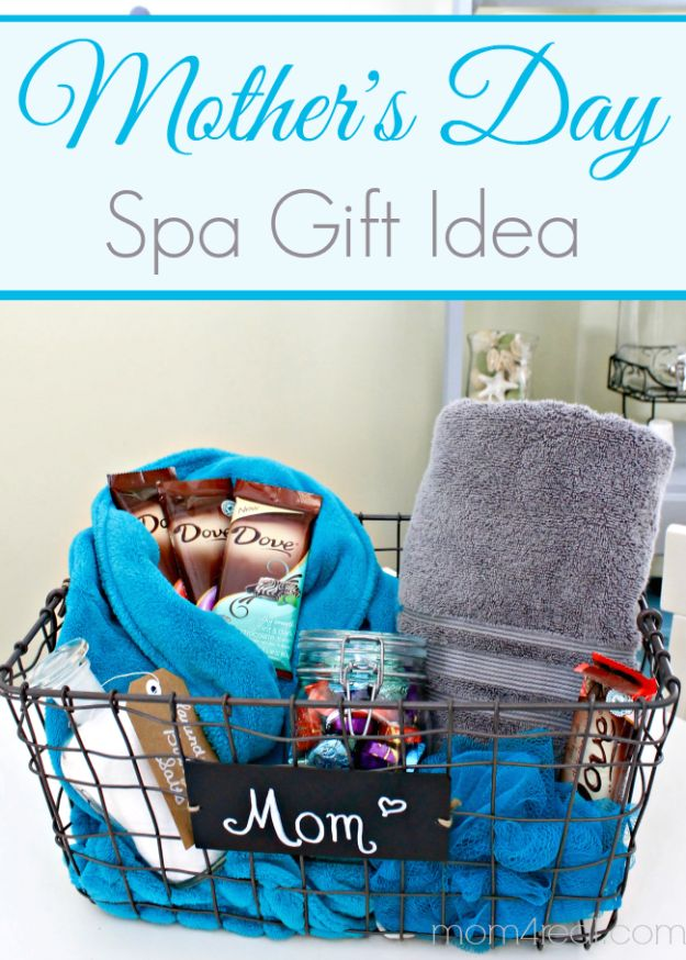 Best Mothers Day Ideas - Mother's Day Gift Idea Spa Basket - Easy and Cute DIY Projects to Make for Mom - Cool Gifts and Homemade Cards, Gift in A Jar Ideas - Cheap Things You Can Make for Your Mother http://diyjoy.com/diy-mothers-day-ideas