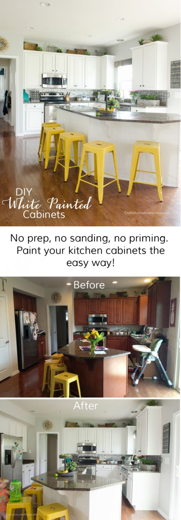 DIY Kitchen Cabinet Ideas - Paint Kitchen Cabinets with Chalk Paint - Makeover and Before and After - How To Build, Plan and Renovate Your Kitchen Cabinets - Painted, Cheap Refact, Free Plans, Rustic Decor, Farmhouse and Vintage Looks, Modern Design and Inexpensive Budget Friendly Projects