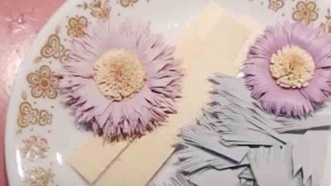 She Takes Colored Card Stock And Transforms It Into Exquisite Flowers. Learn How! | DIY Joy Projects and Crafts Ideas