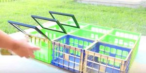 What She Does With Plastic Crates And Picture Frames Is Brilliant. Watch!