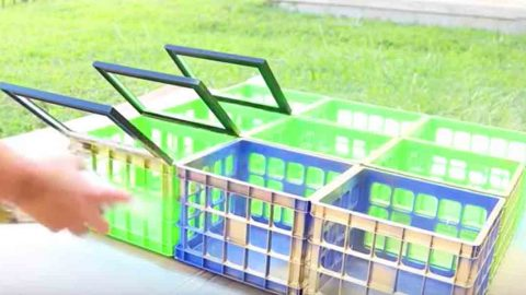 What She Does With Plastic Crates And Picture Frames Is Brilliant. Watch! | DIY Joy Projects and Crafts Ideas