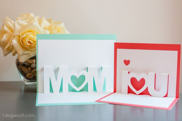 Best Mothers Day Ideas - Pop Up Cards - Easy and Cute DIY Projects to Make for Mom - Cool Gifts and Homemade Cards, Gift in A Jar Ideas - Cheap Things You Can Make for Your Mother http://diyjoy.com/diy-mothers-day-ideas