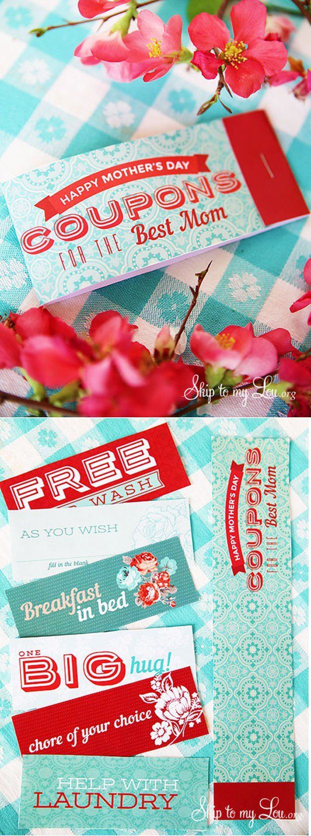 Best Mothers Day Ideas - Printable Mother's Day Coupons - Easy and Cute DIY Projects to Make for Mom - Cool Gifts and Homemade Cards, Gift in A Jar Ideas - Cheap Things You Can Make for Your Mother http://diyjoy.com/diy-mothers-day-ideas