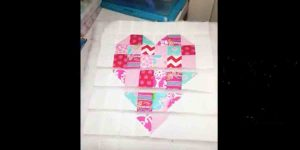She Makes The Coolest Quilted Heart Wall Hanging And Watch How She Attaches The Pieces!