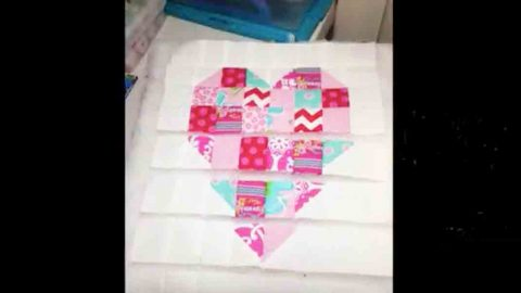 She Makes The Coolest Quilted Heart Wall Hanging And Watch How She