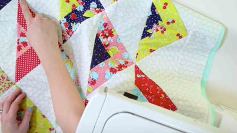 You'll Fall In Love With This Striking Scrappy Triangle Throw Quilt. Watch! | DIY Joy Projects and Crafts Ideas