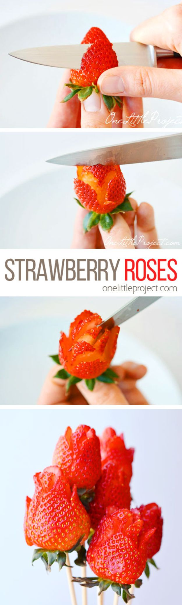 Best Mothers Day Ideas - Strawberry Rose - Easy and Cute DIY Projects to Make for Mom - Cool Gifts and Homemade Cards, Gift in A Jar Ideas - Cheap Things You Can Make for Your Mother http://diyjoy.com/diy-mothers-day-ideas