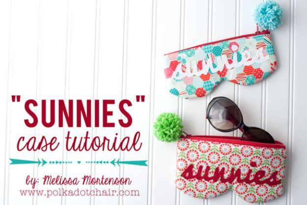 Best Mothers Day Ideas - Sunnies Sunglasses Case Sewing Tutorial - Easy and Cute DIY Projects to Make for Mom - Cool Gifts and Homemade Cards, Gift in A Jar Ideas - Cheap Things You Can Make for Your Mother http://diyjoy.com/diy-mothers-day-ideas