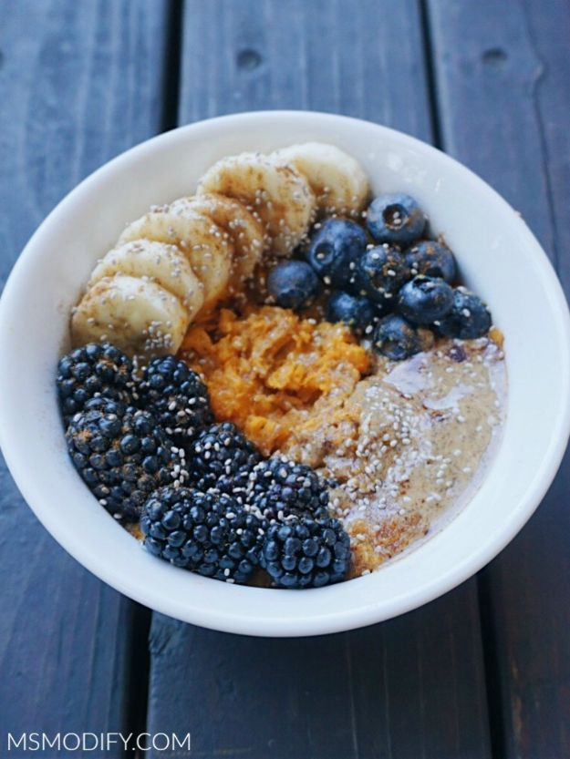 Best Lowfat Recipes - Sweet Potato Breakfast Bowl - Easy Low fat and Healthy Recipe Ideas For Eating Well and Dieting, Weight Loss - Quick Breakfasts, Lunch, Dinner, Snack and Desserts - Foods with Chicken, Vegetables, Salad, Low Carb, Beef, Egg, Gluten Free http://diyjoy.com/best-lowfat-recipes