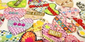 Watch How Easily She Makes Lovely Heart Embellishments Using Scraps And Stash!