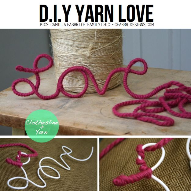 Best Mothers Day Ideas - Yarn Love - Easy and Cute DIY Projects to Make for Mom - Cool Gifts and Homemade Cards, Gift in A Jar Ideas - Cheap Things You Can Make for Your Mother http://diyjoy.com/diy-mothers-day-ideas