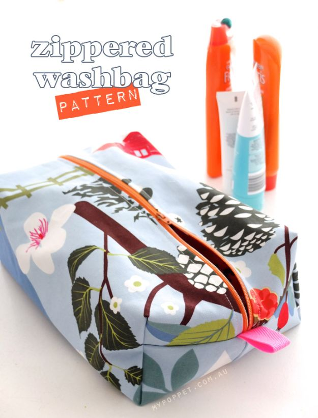 Best Mothers Day Ideas - Zippered Wash Bag Pattern Make A Gift From One Mother To Another - Easy and Cute DIY Projects to Make for Mom - Cool Gifts and Homemade Cards, Gift in A Jar Ideas - Cheap Things You Can Make for Your Mother http://diyjoy.com/diy-mothers-day-ideas