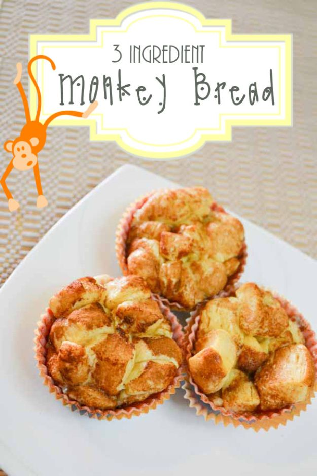 Best Recipes To Teach Your Kids To Cook - 3-Ingredient Monkey Bread - Easy Ideas To Show Children How to Prepare Food - Kid Friendly Recipes That Boys and Girls Can Make Themselves - No Bake, 5 Minute Foods, Healthy Snacks, Salads, Dips, Roll Ups, Vegetables and Simple Desserts - Recipes To Learn How To Make Fun Food http://diyjoy.com/best-recipes-teach-kids-to-cook