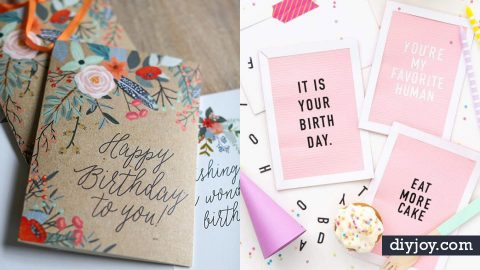 Diy creative birthday card ideas