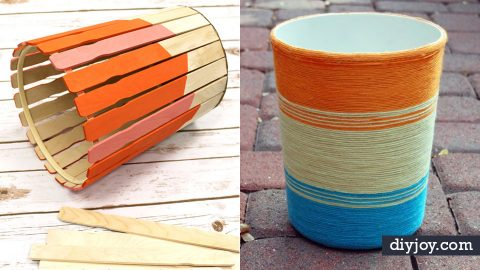 32 Impressive DIY Trash Cans   DIY Joy Projects and Crafts Ideas