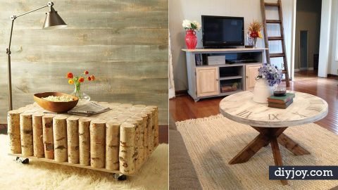 35 DIY Coffee Tables That Belong In Your Living Room | DIY Joy Projects and Crafts Ideas