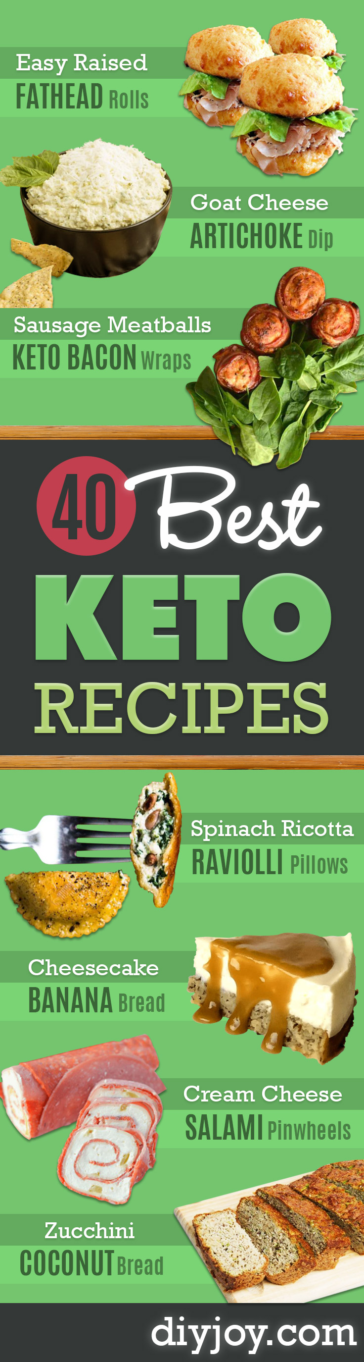 Best Keto Recipes - Easy Ketogenic Recipe Ideas for Breakfast, Lunch, Dinner, Snack and Dessert - Quick Crockpot Meals, Fat Bombs, Gluten Free and Low Carb Foods To Make For The Keto Diet - Shakes, Protein and Cheese Dishes With No or Low Carbohydrates - Sugarfree Keto Cooking Idea and Techniques Keep Ketones Low To Burn Fat http://diyjoy.com/best-keto-recipes
