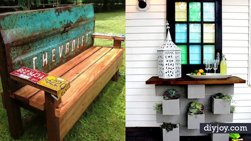 41 Diy Patio Furniture Ideas, Outdoor Furniture Ideas