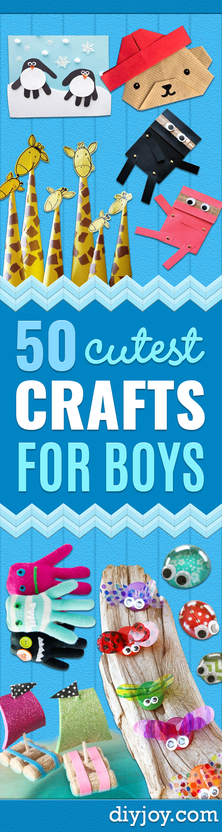 Crafts for Boys - Cute Crafts for Young Boys, Toddlers and School Children - Fun Paints to Make, Arts and Craft Ideas, Wall Art Projects, Colorful Alphabet and Glue Crafts, String Art, Painting Lessons, Cheap Project Tutorials and Inexpensive Things for Kids to Make at Home - Cute Room Decor and DIY Gifts to Make for Mom and Dad http://diyjoy.com/crafts-for-boys