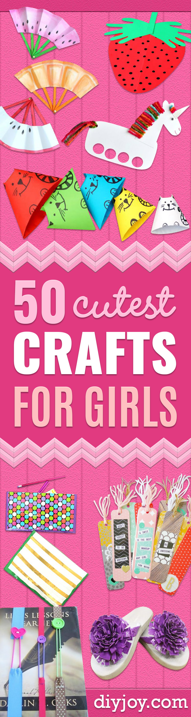 Crafts for Girls - Cute Crafts for Young Girls, Toddlers and School Children - Fun Paints to Make, Arts and Craft Ideas, Wall Art Projects, Colorful Alphabet and Glue Crafts, String Art, Painting Lessons, Cheap Project Tutorials and Inexpensive Things for Kids to Make at Home - Cute Room Decor and DIY Gifts to Make for Mom and Dad http://diyjoy.com/crafts-for-girls
