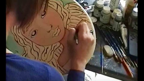 She Paints This Unbelievably Amazing Angel After Using A Wood Burner To Draw Her Face | DIY Joy Projects and Crafts Ideas