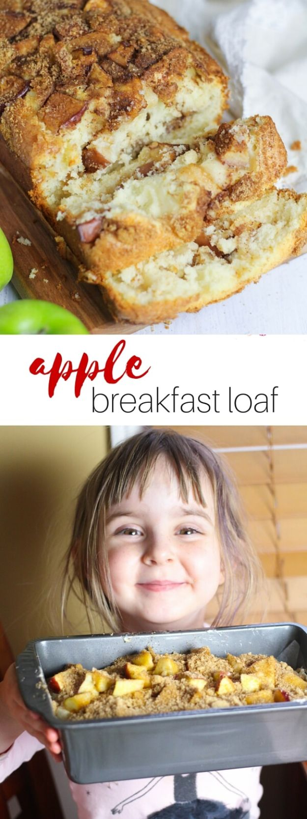 Best Recipes To Teach Your Kids To Cook - Apple Breakfast Loaf - Easy Ideas To Show Children How to Prepare Food - Kid Friendly Recipes That Boys and Girls Can Make Themselves - No Bake, 5 Minute Foods, Healthy Snacks, Salads, Dips, Roll Ups, Vegetables and Simple Desserts - Recipes To Learn How To Make Fun Food http://diyjoy.com/best-recipes-teach-kids-to-cook