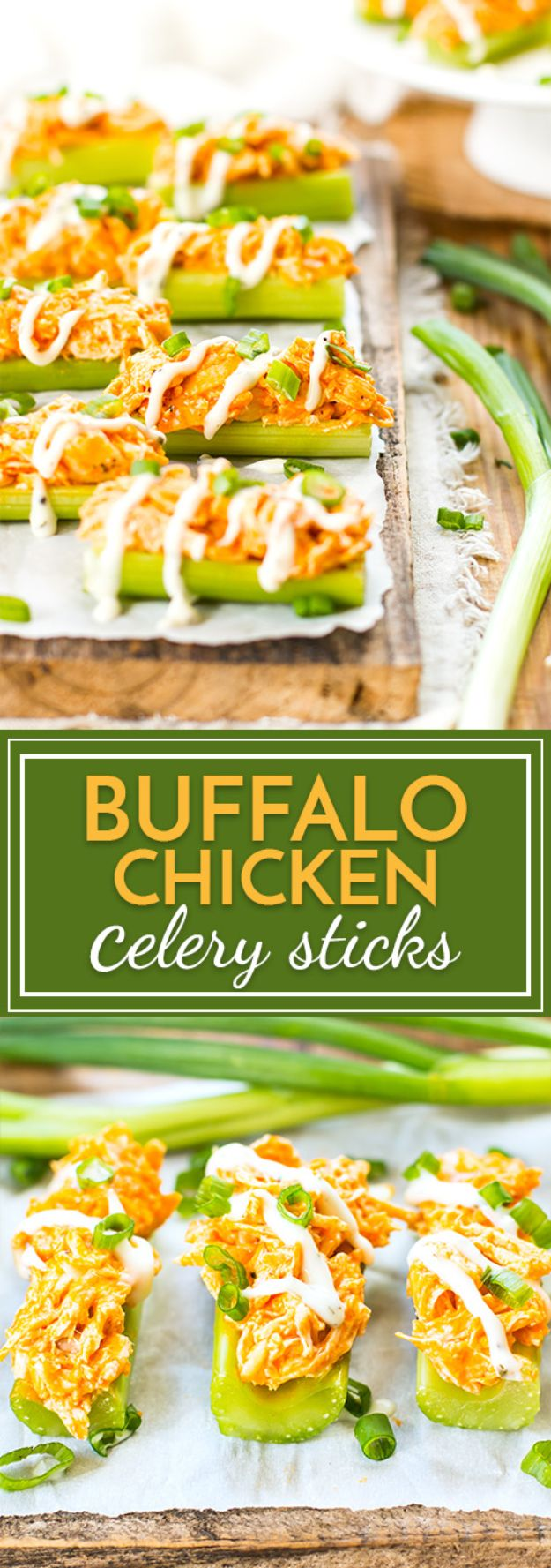 Gluten Free Appetizers - Buffalo Chicken Celery Sticks - Easy Flourless and Glutenfree Snacks, Wraps, Finger Foods and Snack Recipes - Recipe Ideas for Gluten Free Diets - Spinach and Cheese Dips, Vegetable Spreads, Sushi rolls, Quick Grill Foods, Party Trays, Dessert Bites, Healthy Veggie and Fruit Appetizer Tutorials #glutenfree #appetizers #appetizerrecipes #glutenfreerecipes #recipeideas #diyjoy http://diyjoy.com/gluten-free-appetizers